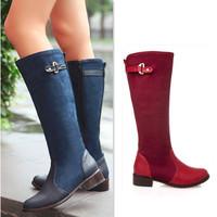 Woman'S Boot Over Knee High Boots For Plus Size Women Bota Cano Longo Alto Fashion Long Galochas Femininas Wellies Free Shipping