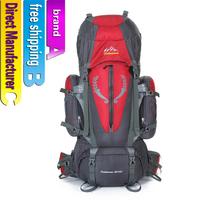 Super waterproof outdoor mountaineering bag men and women general travel bag 85 l capacity backpack
