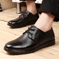 Free Shipping New 2015 Men Genuine Leather Lace-Up Formal Wear Hand Sewing Dress Breathable Flats Men Classic Oxford Shoes