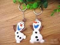 2014 hot movie Frozen Olaf keychain snowman keychain size 8cm pvc materia Christmas gift present Christmas keychain