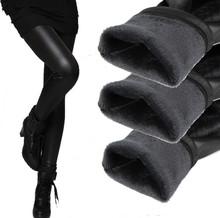 Novo 2015 espessamento de couro preto botas caneleiras magros calças inverno quente calças femininas calças de inverno para as mulheres de alta qualidade(China (Mainland))