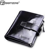 Organizer wallet 100% Genuine Leather fashion Men Purse casual male wallet Q391