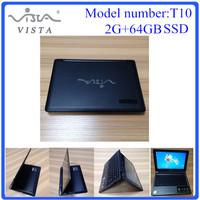 10.1 inch mini laptop computer touch srceen intel N2806 CPU 2G+64GB SSD DHL Free Shipping