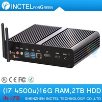 Mini Computers Core i7 fanless with haswell Intel Core i7 4500U 1.8Ghz 4 USB 3.0 HDMI DP 16G RAM 2TB HDD Windows or Linux