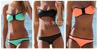 Women Bikini Sets Low Waist Bandage Style Sexy Zipper Women Beach Swimwear Swimsuit 3151
