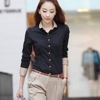 Korean Fashion Elegant New 2014 Autumn Winter Casual Women's Shirt Plus Size Tops Women Long-Sleeve Shirt Female Sexy Clothes