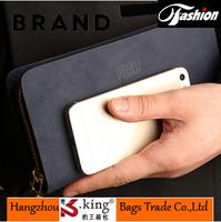 B.King 2014 Luxury Brand Mens Wallets Leather Genuine , High Quality Long Zipper Desigual Men Business Clutch Handbag