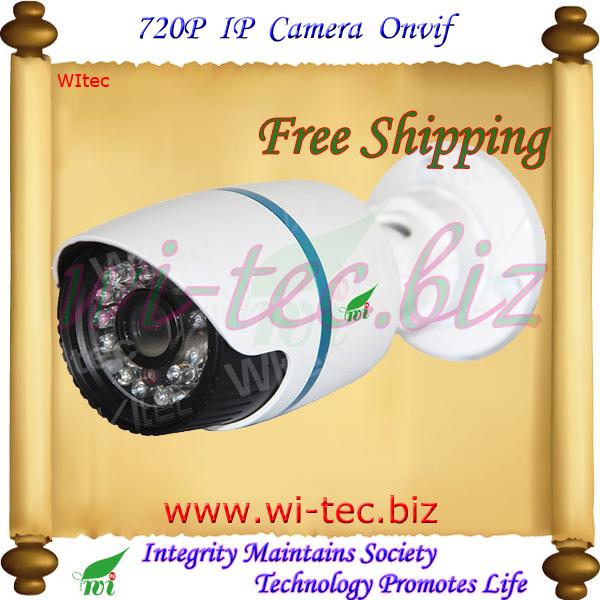 Mini Water proof IP CCTV Camera IR 720P Bullet Onvif P2P Free CMS Software Mobile View(China (Mainland))
