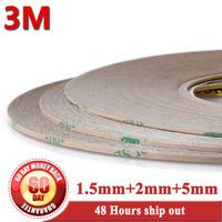 1.5mm/2mm/5mm 3M 300LSE Super Strong Adhesion Two Side Sticky Tapes for Cell Phone iphone 4s 5 ipad 2 Touch Screen Digizter Lens