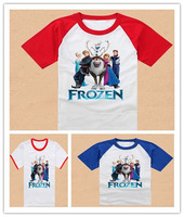 Free Shipping New 2014 Baby Boys Frozen Short Sleeve Tshirt Kids T-shirt Boy's Frozen T Shirt