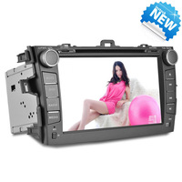 JOYOUS: 8'' inch 2 Din Car DVD GPS PC for COLORRA of TOYOTA support radio,BT,steering wheel control,IPOD and WIFI/3G function