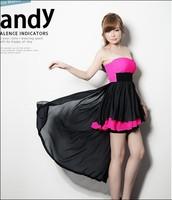Women Summer Dress New Fashion Long Dress Strapless Sexy Club Dress 2014 Black & White Slim Ladies Dress