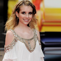 2014 New free shipping Women's dress emma Roberts strapless beaded chiffon dress! European and American stars party dress
