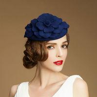 top grade rose flower  wedding hats and fascinators party wedding hat veils top hat mini