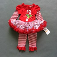 2014 New Baby girls merry Christmas sets clothing new year boys girls Santa claus suits IN stcok