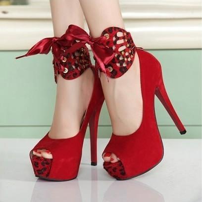 New 2014 Fashion Red Bottom Platform Lady Sexy Ultra High Heels Wedding Shoes Woman Dress Shoes Women Pumps Size 34-39(China (Mainland))