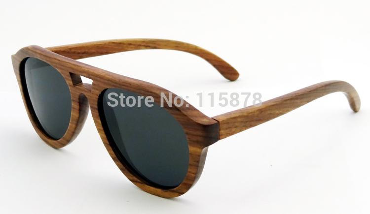 Handmade Wood sunglasses full frame sunglasses UV400 protection Designer Eyewear  Z6140(China (Mainland))