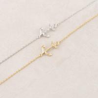 Wholesale 10pcs/lot-2015 Gold/Silver Nautical Jewelry Vintage Tiny Anchor Charm Chain Bracelet for Women