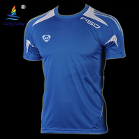 free shipping wholesale New 2014 summer Mens Designer Quick Dry Shirt Slim Fit Sport Shirt Running T Shirt plus M-XXL LS06