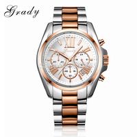2014 Men watch luxury brand charm bracelet watch man all stainless steel chronograph watch