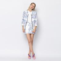 YIGELILA 8100 Latest Autumn New Elegant Lace Women Skirt Suits 2 Pieces Set Free Shipping
