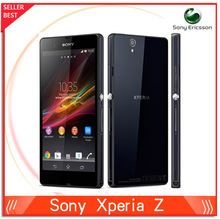 Sony Xperia Z L36h Original Unlocked Mobile phone 3G/4G Wifi GPS 13.1MP Camera Quad Core 2GB RAM/16GB ROM Android Free Shipping(China (Mainland))