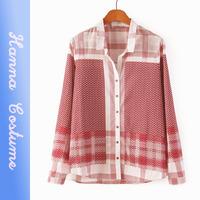 New arrival plaid women blouses 2014 autumn long sleeve woman shirt blusas