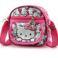 Small Hello Kitty Children Messenger Bag Kids & Girls's Shoulder Bags Crossbody Bags School Bags Free Shipping