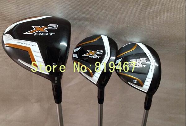 golf clubs X2 hot driver 10.5 loft regular flex + X2 hot fairway woods 3# 5# total 3pcs/lot free headcover(China (Mainland))