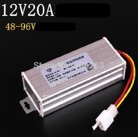 Electric Bike Converter Adapter to Voltage Transformer DC 96V 72V 64V 60V 48V TO 12V 20A Current