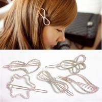 New Arrival Beautiful Rhinestone White Full CZ zircron Hair Clips/ Hairpins Women Hair Accessories