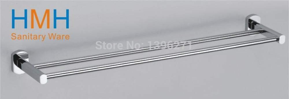 Double towel bar/towel holder,Solid Brass Made, Chrome finish,Bathroom Hardware,Bathroom accessories(China (Mainland))