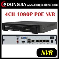 DONGJIA DA-2004P 1920x1080P H.264 onvif POE IP Camra 4CH poe nvr