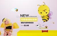 High quality creative fashion DIY wallpaper bees clock, stickers mute scanning wall clock, children bedroom cartoon wall clock