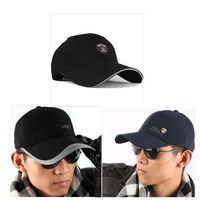 Stylish  2014 Extended Brim Leisure Sport Cap Man And Woman Summer Cotton Shade  Golf Caps