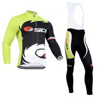 2014 Men Castelli Sidi Ropa ciclismo long cycling jersey Bicycle bicicleta mountain bike maillot shirt clothing (bibs) pants set