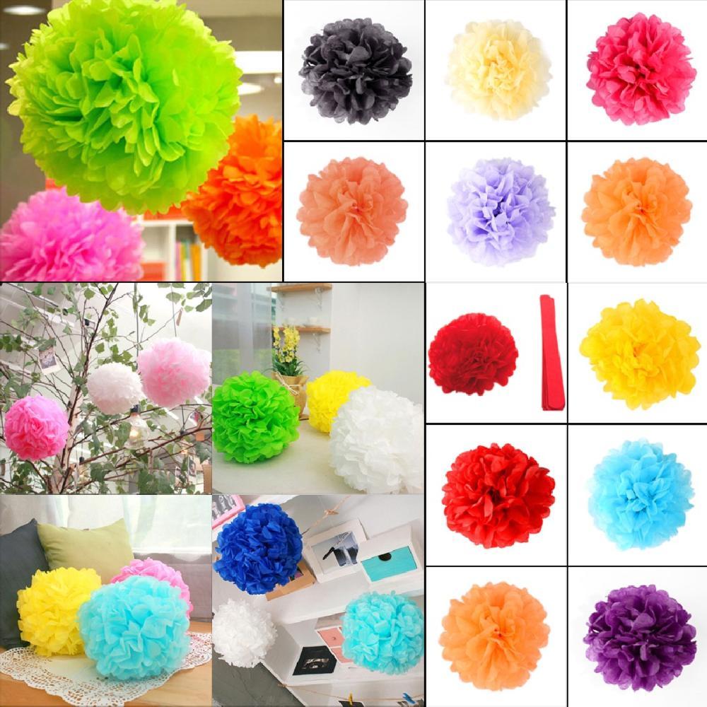 "10pcs/set Wedding Decorative 20cm(8"")Props Supplies Tissue Paper Pom Poms Wedding Party Festival Decoration(China (Mainland))"