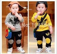 NEW Spring Autumn Leisure KIDS 2y-6y Sport suit set long sleeve children T shirt+kids pants clothing set,2pcs sets