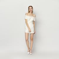 YIGELILA 5199 Latest Fashion Women White Slash Neck Lace Hem Jumpsuit Free Shipping