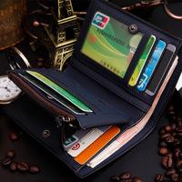 New arrival nubuck short men's wallet,zipper wallet,Designer's brand top purse for male,short coin purse, free shipping