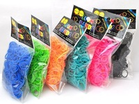 Candy Colorful Loom Bands Opp Bag Package 300pc Set Multy Colors Option