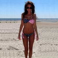 2014 hot sale triangl swimwear Bikini Set secret women swimwear American flag wipes bosom push up vestido saida de praia
