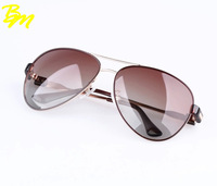 New Fashion Women Big Frame Polarized Metal Sunglasses Brand Design Female Sun Glasses Oculos de sol Free Shipping