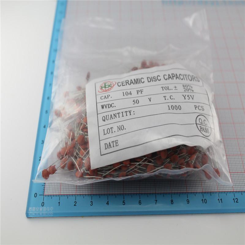 Free shipping 104P disk ceramic capacitors ceramic capacitors 0.1UF capacitance capacitors 104(China (Mainland))