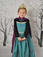 2014 Brand Kids Baby Girls Princess dress  girl dresses princess  Cosplay Party  Easter Day wear with cape