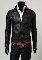 New 2014 autumn fashion stylish Design  good quality leather short slim jackets M-XXL free shipping