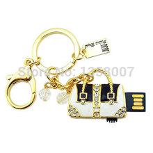 Jewelry Keyring Lady's bag USB Pendrive Women's Bag Pen Drive 64GB 32GB 16GB 8GB 4GB 2GB 128MB(China (Mainland))