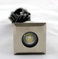 New Square LED High power 1.5W Stainless steel IP67 waterproof 12V LED Deck Underground Light For Garden 6pcs/ lot ( F107A  )