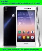 Original Huawei Ascend P7 4G LTE Smart Phone Android 4.4.2 Quad Core Dual SIM 5 Inch IPS Screen 2GB RAM 16GB ROM Mobile Phone