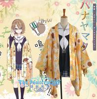 Hot Sale Custom Made Hanayamata Machi Tokiwa Kimono Cosplay Costume